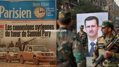 """Photo of فرنسا تنسق مع نظام الأسد بخصوص فصائل إدلب.. ما علاقة الأستاذ الفرنسي """"صامويل باتي"""""""